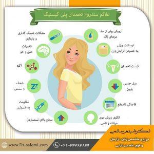 علائم تنبلی تخمدان